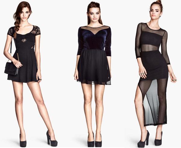 Платья классика черные