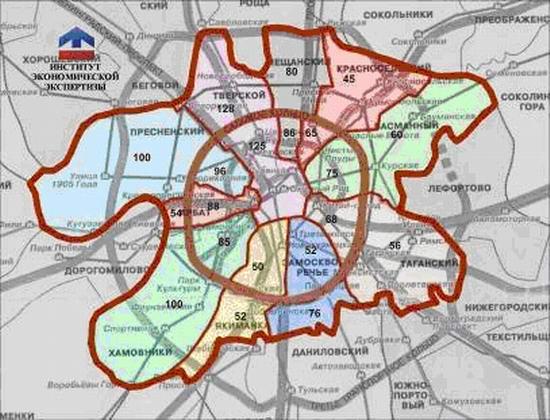 Анализ распределения удельной рыночной стоимости земельных участков в г. Москве